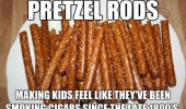 pretzel rods kids smoking cigars funny pics pictures pic picture image photo images photos lol
