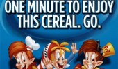 rice crispies box snap crackle pop one minute too enjoy this cereal funny pics pictures pic picture image photo images photos lol