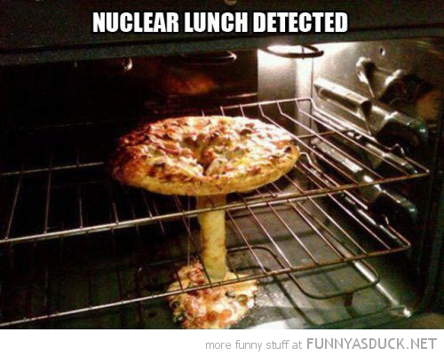 ruined pizza oven middle melted nuclear lunch detected bomb funny pics pictures pic picture image photo images photos lol