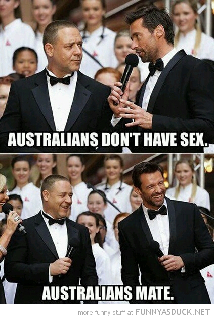 russell crowe Australians dont have sex they mate funny pics pictures pic picture image photo images photos lol