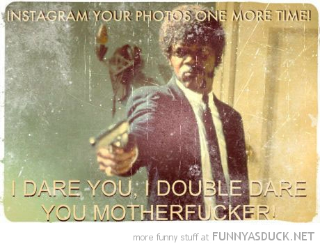 samuel l jackson pulp fiction instigram one more time funny pics pictures pic picture image photo images photos lol