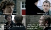 sherlock tv scene punch face funny pics pictures pic picture image photo images photos lol