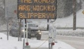sign snow road wicked slippery funny pics pictures pic picture image photo images photos lol