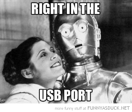 star wars c3po right in usb port film movie funny pics pictures pic picture image photo images photos lol