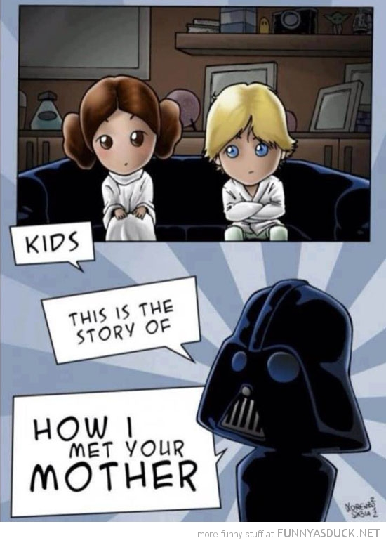 kids story how met mother darth vader star wars funny pics pictures pic picture image photo images photos lol