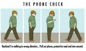 the phone check walking wrong direction comic funny pics pictures pic picture image photo images photos lol