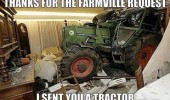tractor crashed house farmville request facebook funny pics pictures pic picture image photo images photos lol