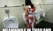 woman he she shemale peeing urinal toilet meanwhile thailand funny pics pictures pic picture image photo images photos lol