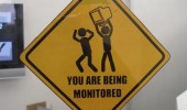you are being monitored sign funny pics pictures pic picture image photo images photos lol
