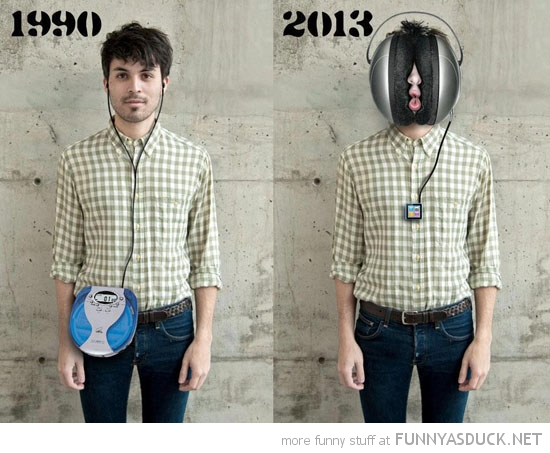 1990 2013 man walkman big huge headphones funny pics pictures pic picture image photo images photos lol