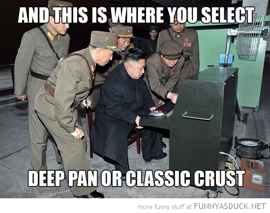 kim jong un north korea computer pc select deep pan classic crust funny pics pictures pic picture image photo images photos lol