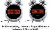 alarm clock big difference 6:00 morning funny pics pictures pic picture image photo images photos lol
