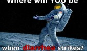 astronaut space man moon where will you be diarrhea strikes funny pics pictures pic picture image photo images photos lol