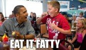barack obama kid boy president eat it fatty funny pics pictures pic picture image photo images photos lol