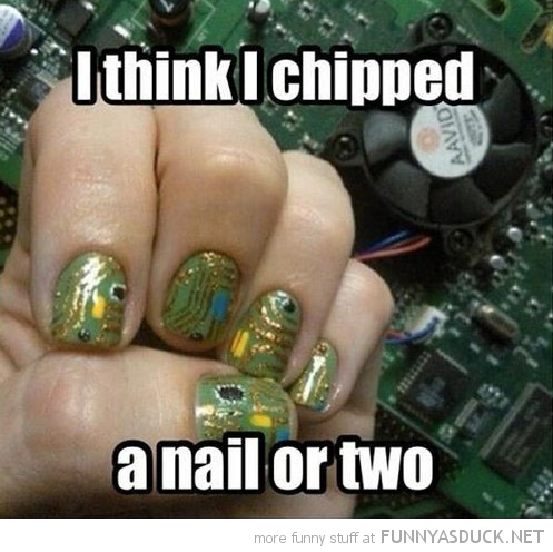 computer chip chipped a nail or two funny pics pictures pic picture image photo images photos lol