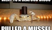 crab aninal top hat cane went seafood disco pulled mussel funny pics pictures pic picture image photo images photos lol