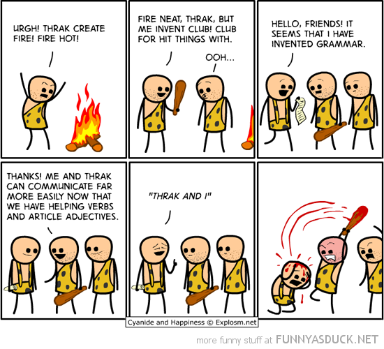 cyanide happiness comic cavemen grammar nazi funny pics pictures pic picture image photo images photos lol