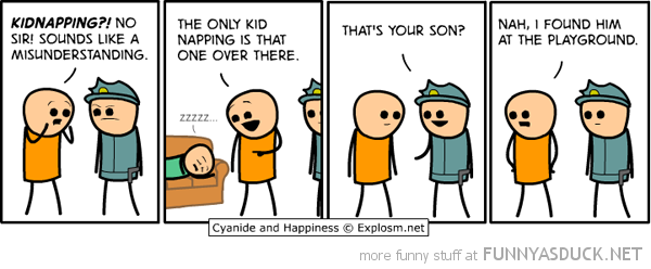 cyanide happiness comic kidnapping funny pics pictures pic picture image photo images photos lol
