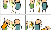 cyanide and happiness comic photo bomb painting  funny pics pictures pic picture image photo images photos lol