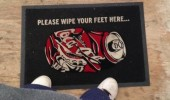 dad works pepsi wipe feet coca cola mat funny pics pictures pic picture image photo images photos lol