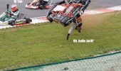 go kart crash men waving hi tim funny pics pictures pic picture image photo images photos lol