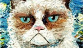 grumpy cat oil painting angry vincent van no funny pics pictures pic picture image photo images photos lol