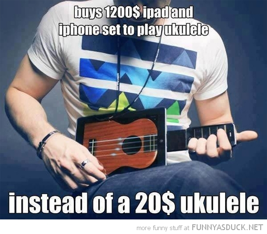ipad iphone ukulele apple $20 funny pics pictures pic picture image photo images photos lol