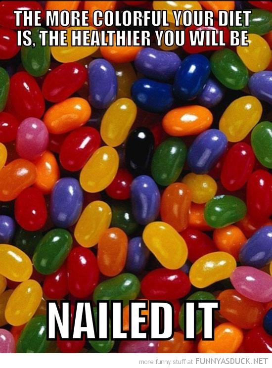 jelly beans bellys more colorful diet healthier nailed it funny pics pictures pic picture image photo images photos lol