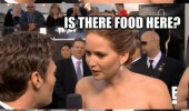 jenifer lawrence oscars interview red carpat is there food here movie film funny pics pictures pic picture image photo images photos lol