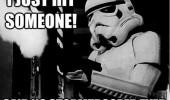 just hit someone said no stormtropper ever star wars film tv funny pics pictures pic picture image photo images photos lol