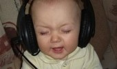 kid baby headphones listening music wheels bus go round how true is that funny pics pictures pic picture image photo images photos lol