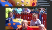 kid girl fun fair ride unhappy had fun once was awful funny pics pictures pic picture image photo images photos lol