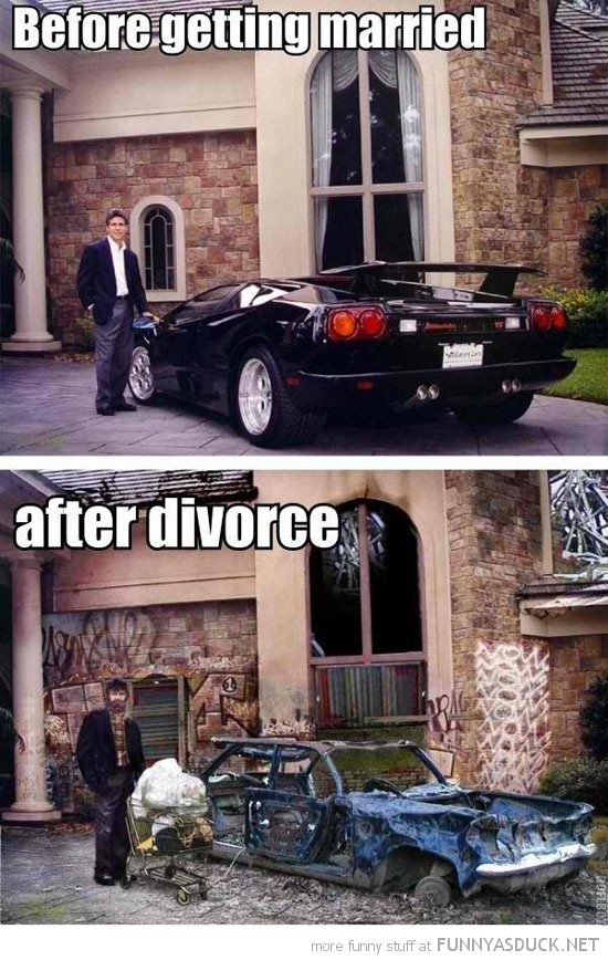 man before after divorce house car funny pics pictures pic picture image photo images photos lol