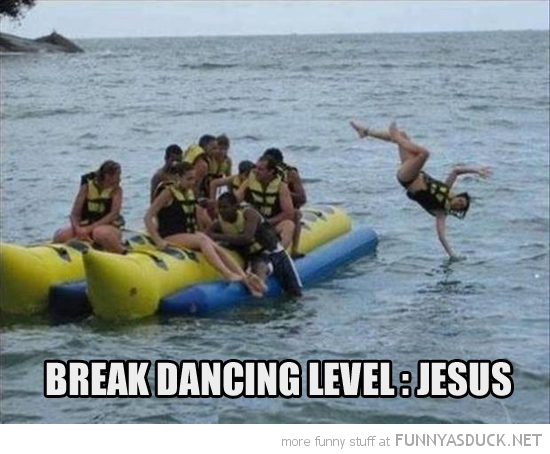 man falling boat water sea break dancing level jesus walk funny pics pictures pic picture image photo images photos lol