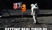 mario moon flag space getting real tired shit astronaut funny pics pictures pic picture image photo images photos lol