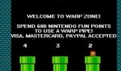 mario nintendo points warp zone pipe visa mastercard paypal gaming retro funny pics pictures pic picture image photo images photos lol