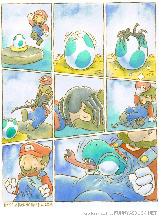mario yoshi egg alien gaming nintendo funny pics pictures pic picture image photo images photos lol