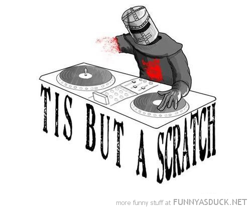 monty python holy grail knight dj tis but scratch comic funny pics pictures pic picture image photo images photos lol