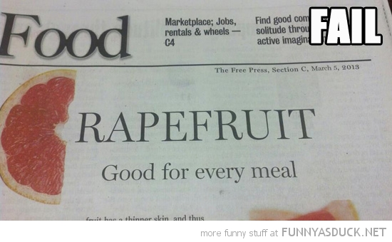 news paper headline fail rapefruit  funny pics pictures pic picture image photo images photos lol