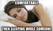 nothing more comfortable sleeping someone gets ready work funny pics pictures pic picture image photo images photos lol