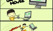 person grab my mouse computer procrastination comic funny pics pictures pic picture image photo images photos lol