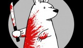 polar bear knife blood comic guns don't kill people funny pics pictures pic picture image photo images photos lol