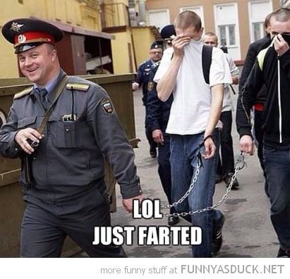 man prison guard cop laughing chains lol just farted funny pics pictures pic picture image photo images photos lol