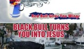 red bull gives wings black turn you into jesus walking water man funny pics pictures pic picture image photo images photos lol