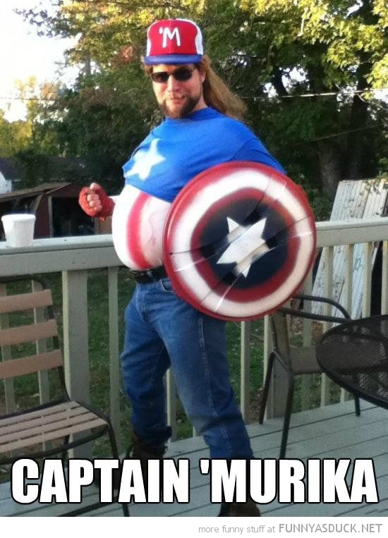 redneck captain murika america man avengers marvel funny pics pictures pic picture image photo images photos lol