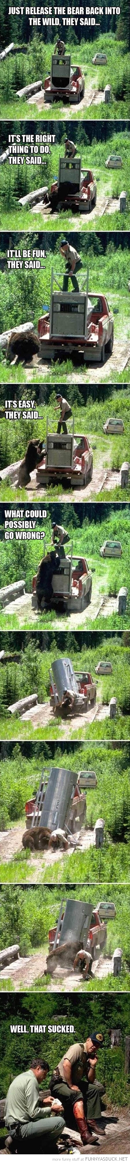 release bear wild animal attacking keeper man that sucked funny pics pictures pic picture image photo images photos lol