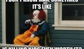 sad pennywise clown it killing kids even worth it film stephen king funny pics pictures pic picture image photo images photos lol