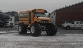 school bus big tires monster truck sorry kids no more snow days funny pics pictures pic picture image photo images photos lol