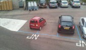 small car still can't park two bays funny pics pictures pic picture image photo images photos lol