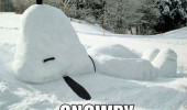 snoopy snow snowpy charlie brown funny pics pictures pic picture image photo images photos lol